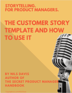 Cover shot of the customer story cheatsheet ebook