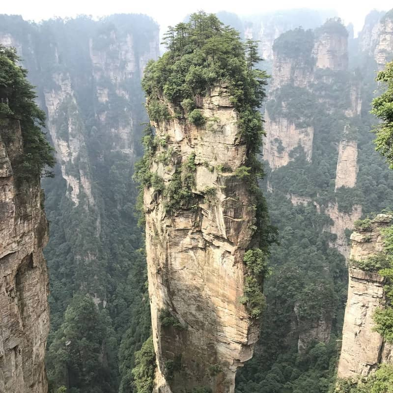 A spire in the Zhangjiajie National Forest Park region of China